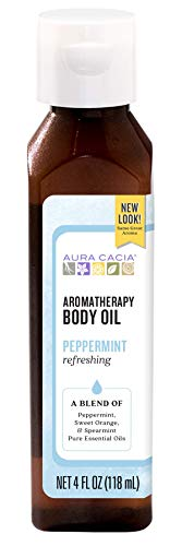 Aura Cacia Refreshing Peppermint Aromatherapy Body Oil | 4 fl. oz.