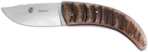 Au Sabot Taschenmesser Amicu, Widderhorngriff, 12C27 Stahl, 11cm