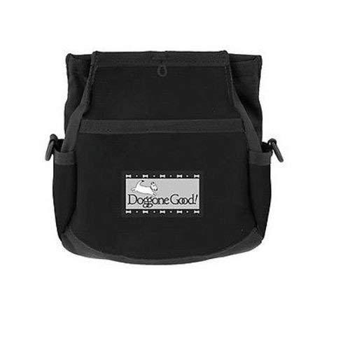 Doggone Good Rapid Rewards Deluxe Dog Training Bag with Belt (Black)