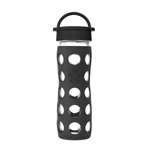 Lifefactory 16-Ounce BPA-Free Glass Water Bottle with...