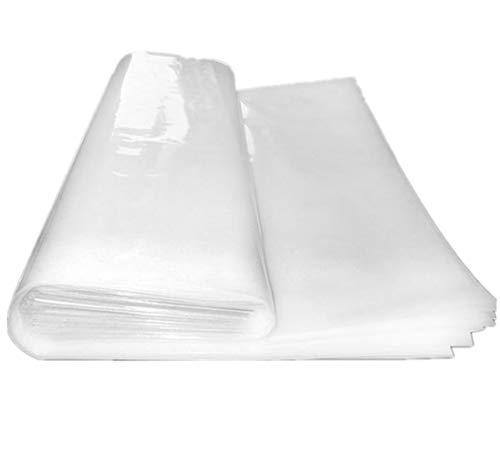 Mitef 3,9 mm Gewächshaus aus Kunststoff Klarfolie, Mulch UV-beständig, Pflanzabdeckung & Frostdecke für Saisonverlängerung
