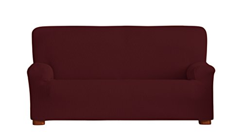 Eysa Ulises - Funda de sofá bielástica, 3 plazas, Color Granate