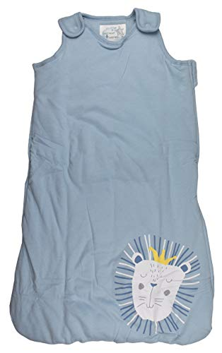 Baby Schlafsack wattiert Babyschlafsack ärmellos Baumwolle Blau 70 cm