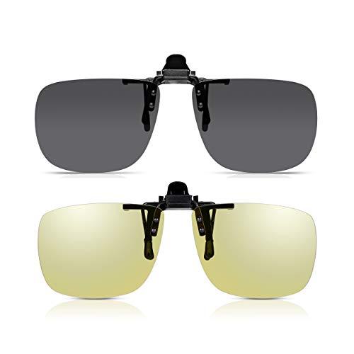 Clip Gafas Sol y Clip Para Conducir de Read Optics: Lente HD...