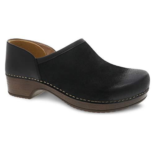 Dansko Women's Brenna Black Slip-On Clog 8.5-9 M US - Comfort Shoe