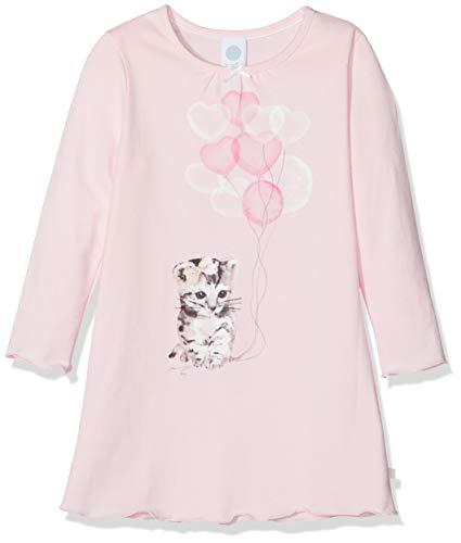 Sanetta Mädchen Sleepshirt w.Print Nachthemd, Pink (Magnolie 3609.0), 92
