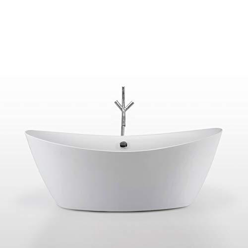 Freistehende Badewanne BEVERLY+WASSERHAHN 180x80 cm Modernes Innovatives Design