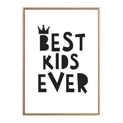 yaoxingfu Sin Marco Big Dream Canvas ng Black White Minimalist Nordic Posters Wall Art Picture for Nursery Kids Rooms Sin Marco 40x60cm