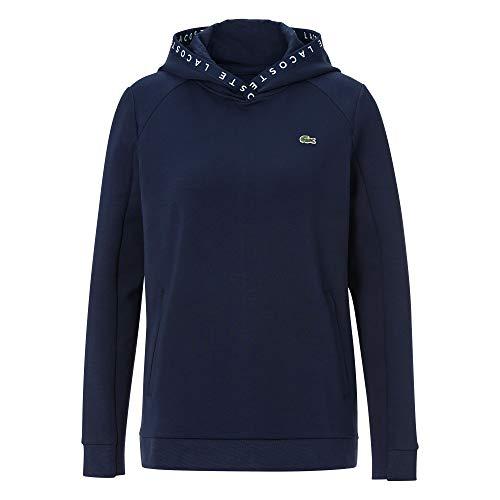 Lacoste Damen SF5192 Kapuzenpulli, Frauen Kapuzenpullover,Hoodie,Sweatshirt,Logo, Regular Fit,Navy Blue/Navy Blue-White(R26),38 EU (38)