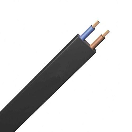 Cable plano de guirnalda feria 50 metros de color negro