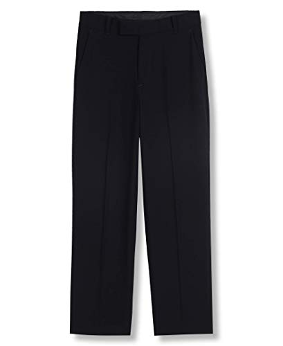 Calvin Klein Boys' Little Bi-Stretch Flat Front Dress Pant, Navy, 5
