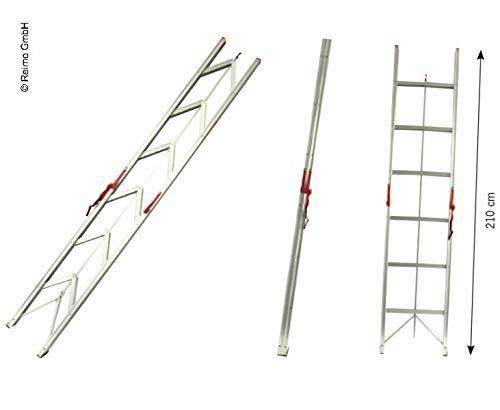 carbest Faltbare Leiter bis 150kg belastbar mit 6 Stufen, 2,10m (932944005)