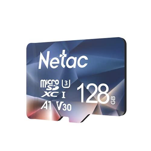 Netac microSD 128GB microSDXC UHS-I 最大100MB/s U3 A1 V30 C10 Full HD Nintendo Switch対応 メーカー正規品認証 - P500128