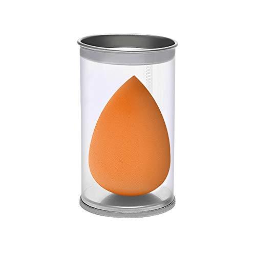 JinEamy-fr 1pcs Goutte d'eau Forme cosmétiques Puff Maquillage éponge visage Fond de teint liquide Crème Hydrophile sec humide Make Up Powder Puff avec la boîte (Color : 02 Orange)