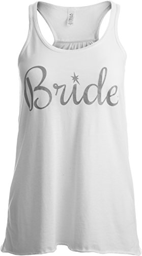 Bride   Flowy, Silky, Fashionable Racerback Women's Bridal Tank Top-Ladies,L White