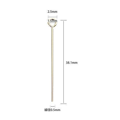『【USA製】14KGFパーツ ゴールドフィルド 9ピン 0.5×38.1mm 1本』の2枚目の画像