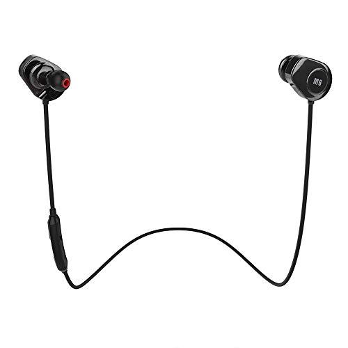 Sport Kopfhörer in Ears, Smart Drahtlose in Ears Ohrhörer mit Nackbügel, Unterstützung für 6 Stunden Spielzeit, Bluetooth 4.0, Pulsmesser, kabelloses Headset für Laufen, Fitness, Arbeit usw.