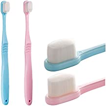 Extra Soft Toothbrush For Sensitive Gums, Micro-Nano Manual Toothbrush with 20000 Soft Floss Bristle for Gum Care, Protect Fragile Gums Good Cleaning Effect (2 Pack)