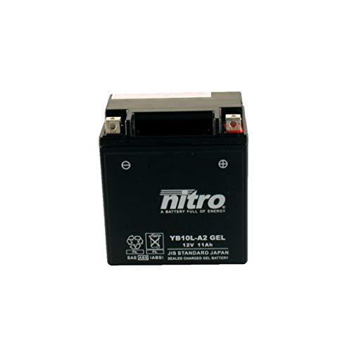 Batería 12 V 11 Ah YB10L-A2 Gel Nitro GN 250 NJ42AD 85-98