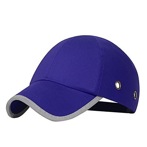 Gorra de béisbol con malla, gorra protectora de béisbol con malla, gorra de seguridad con ventilación, protección de seguridad para trabajadores de mantenimiento, soldadores (tipo azul: B)