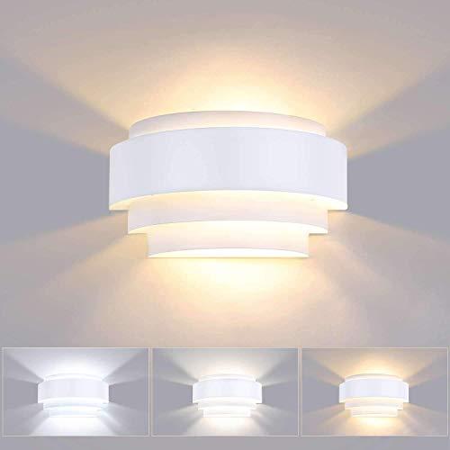 Lightess 12W Lámpara de Pared Regulable Interior Apliques de Pared LED Moderna...