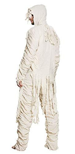 Boland 79112 Costume da Mummia per Adulti, Taglia 50/52, Bianco