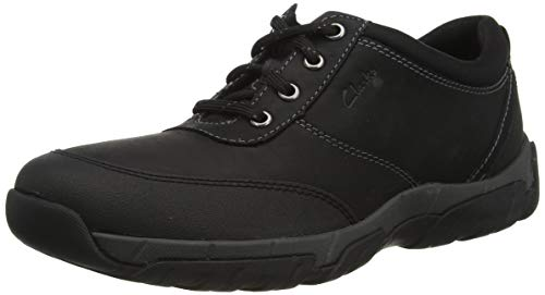 Clarks Herren Grove Edge II Wanderschuh, Black Leather, 43 EU