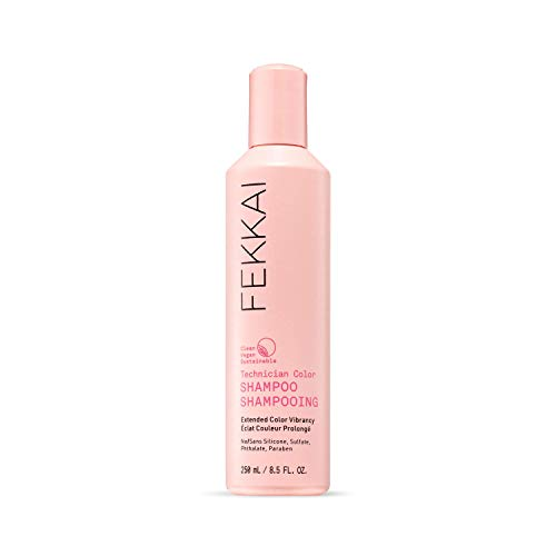 FEKKAI Technician Color Shampoo, Extends and Protects Color Vibrancy, Jojoba and Olive Oil, Clean, Vegan, Sulfate Free, 8.5oz