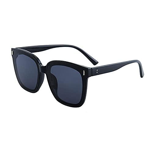 WQZYY&ASDCD Gafas de Sol Gafas De Sol De Gran Tamaño para Mujer Gafas De Sol para Hombre Gafas De Sol Negras Vintage Sombras Gafas De Colores UV-Negro