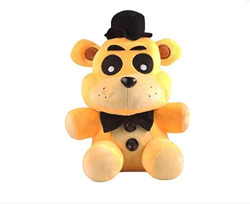 Hope FNAF Freddy Fazbear Peluches Five Nights At Freddy'S Golden Stuffed Dolls- Oso de Sombrero púrpura de18 cm