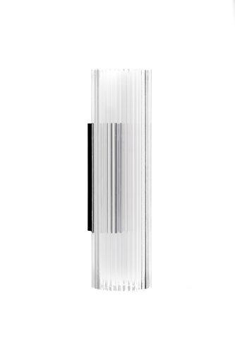Kartell 9370B4 Rifly wandlamp, polycarbonaat, hoogte 30 cm, transparant glashelder