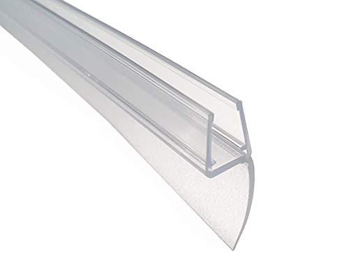 KRISTHAL Lippendichtung 180° mit langer Dichtfahne, Duschdichtung für 6 und 8 mm Glas, Dichtleiste mit Länge 200 cm oder 250 cm, Made in Germany, Art. Nr. 5091 (200 cm)