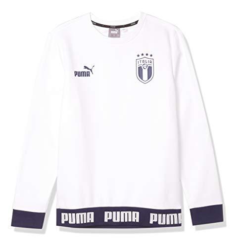 Puma Culture Crew - Sudadera para hombre, color blanco y azul - - Medium