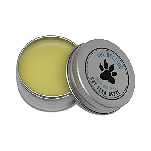 Sol Healing Cat Flea Repel - Natural Insect Repellent Balm for Pet Cats and...