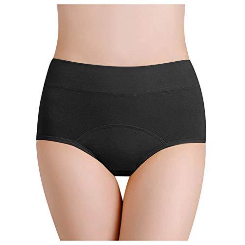 Ghemdilmn Bragas sin costuras, ropa interior elástica, cómoda, transpirable, para mujer negro XL