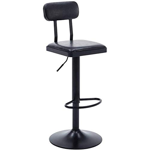 Vintage ijzeren barkruk stoel draaistoel hoge rugleuning kruk geschikt voor familiestoelen is 360 ° draaibaar