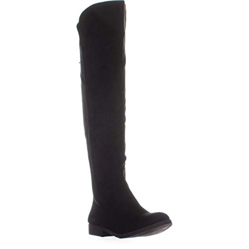 Price comparison product image Style & Co. Womens Hayley Almond Toe Over Knee Fashion Boots,  Black,  Size 7.5