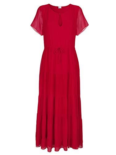 Alba Moda Figurbetontes Maxi Kleid Halbarm in Rot