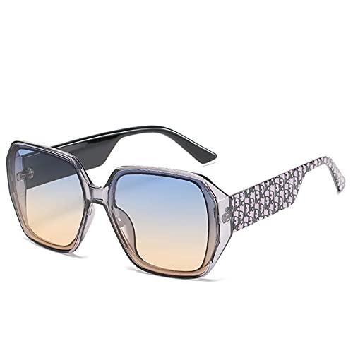 AMFG Moda Big Frame Señoras Gafas de sol Gafas de sol Personalidad Trend Gafas de sol Sombrilla de sol Sombrilla de viaje Mirror de conducción (Color : F)