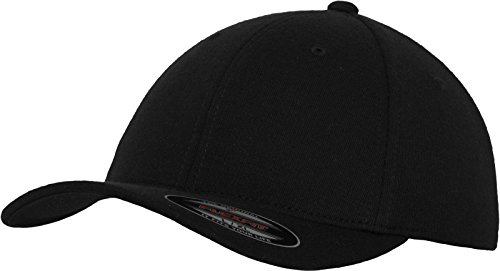 Flexfit Erwachsene Mütze Double Jersey, Black, L/XL