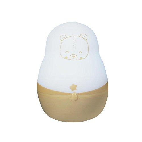 Pabobo - SL03-Wood - Tragbares Nachtlicht - Kind - Mehrfarbig (weiß / beige) - Ab Geburt 0+
