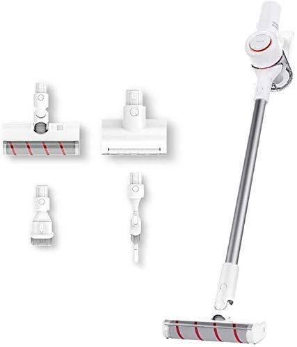 AOIWE Aspirador de la aspiradora doméstica Aspiradora, 18kPA String String inalámbrico Vacuum 2 en 1 vacío de Mano para Pisos Duros Limpieza del Cabello Mascota con filtros HEPA, Blanco