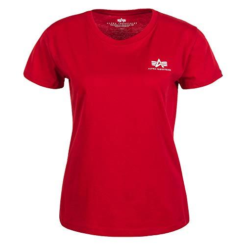 ALPHA INDUSTRIES Basic T Small Logo Wmn Speed Red rojo L