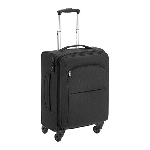 Amazon Basics Urban Carry-On Spinner Suitcase, 50.8 cm, Black