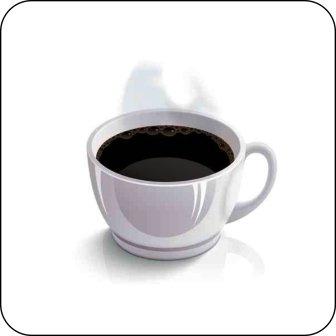 Hinweisschilder, Piktogramme - Kaffeetasse farbig -