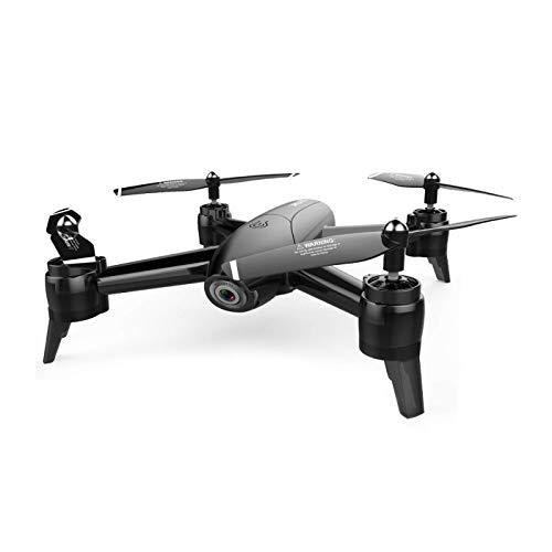 Nuokix Disparo a Gran Altitud RC Quadcopter FPV RC Aviones no tripulados con la cámara 4K HD Quadcopter con Gran Angular Ajustable vídeo en Directo sin Cabeza 2.4Ghz Mode 4 Ch 6 Eje (Color : Black)