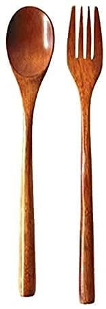 YSWG Conjunto de Utensilios de Cocina, Utensilios de Madera, Cuchara de Madera Cocina de bambú Utensilio Utensilio Llegada Herramienta Sopa Cucharada Catering, Conjunto de Cubiertos (Color : W)