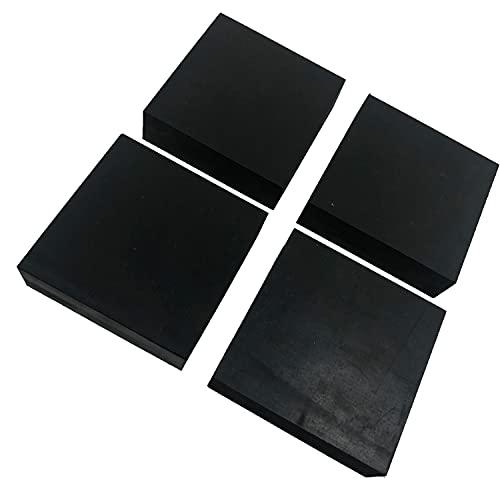 ゴム板 四角 幅100mm 滑り止め付 緩衝材 傷防止 保護 家具(30mm厚 4個セット)