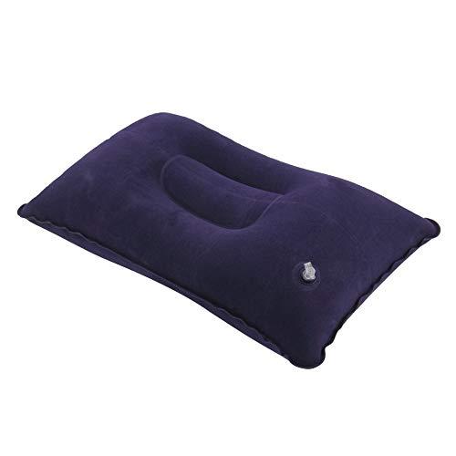 QiKun-Home Plegable portátil Almohada para Dormir de Viaje al Aire Libre Cojín Inflable de Aire Descanso Almohadas cómodas para Dormir Accesorios de Viaje Azul Oscuro