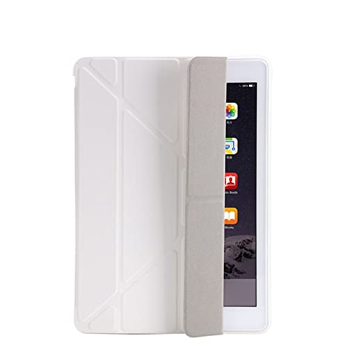 QiuKui Tab Funda para iPad 2/3/4 9.7 2018/2017 5 / 6th, Ultra Thin PU Cuero Suave Cubierta Inteligente para iPad Mini 1/2/3/4/5 7.9' (Color : Blanco, Talla : Mini 4 7.9inch)